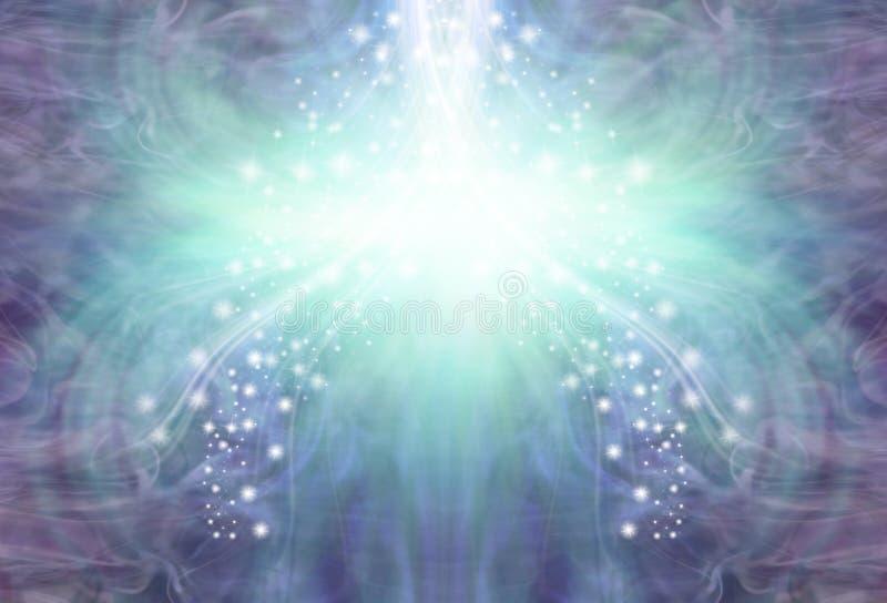 Kyla strömmen av purpurfärgad jadeenergibakgrund royaltyfri illustrationer