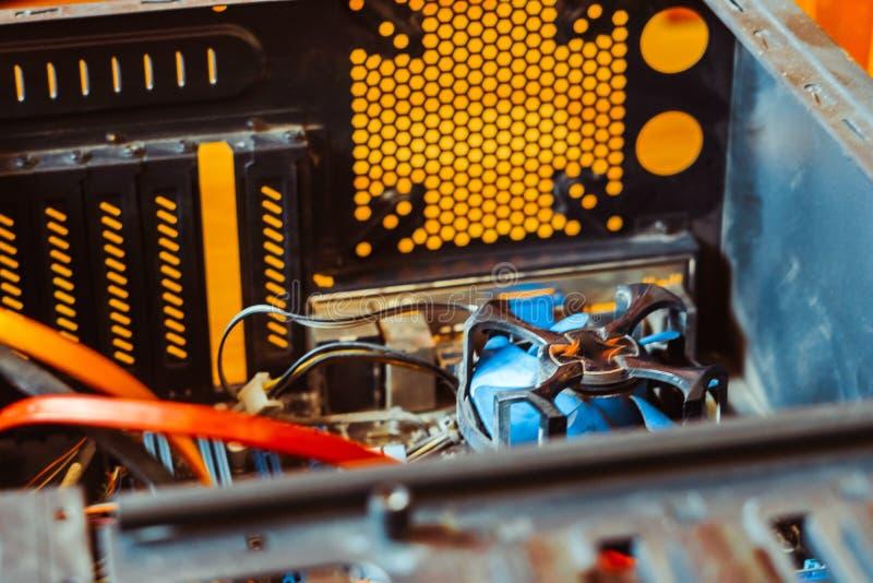 Kylare på processorn arkivfoton