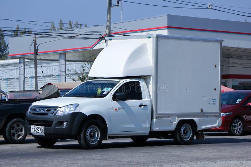 Kyld mini- lastbil för behållare arkivbild