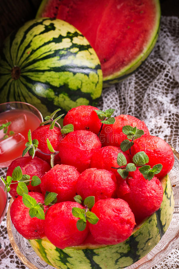Kyld vattenmelonpaj arkivfoto