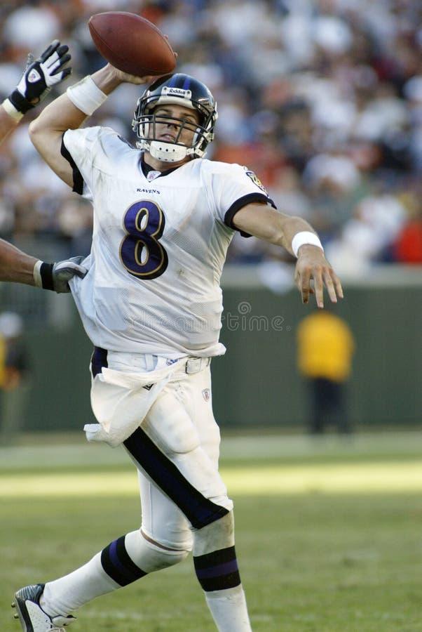 Kyle Boller. Baltimore Ravens quarterback Kyle Boller.  Image taken from color slide royalty free stock image
