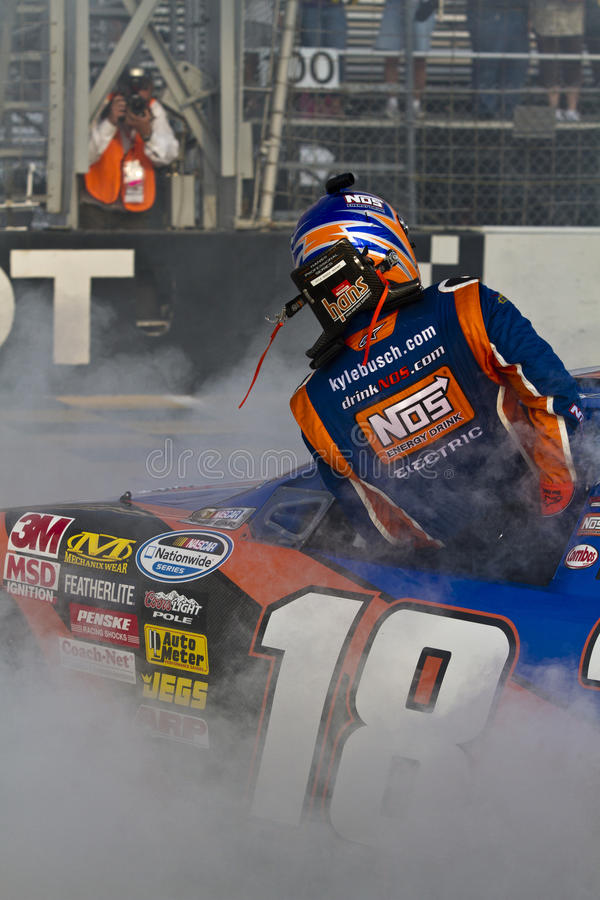 Kyle Busch Burn Out Editorial Photography