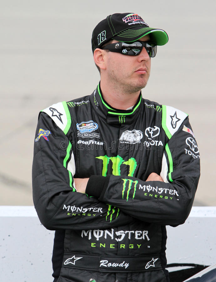 Kyle Busch at track royalty free stock photo