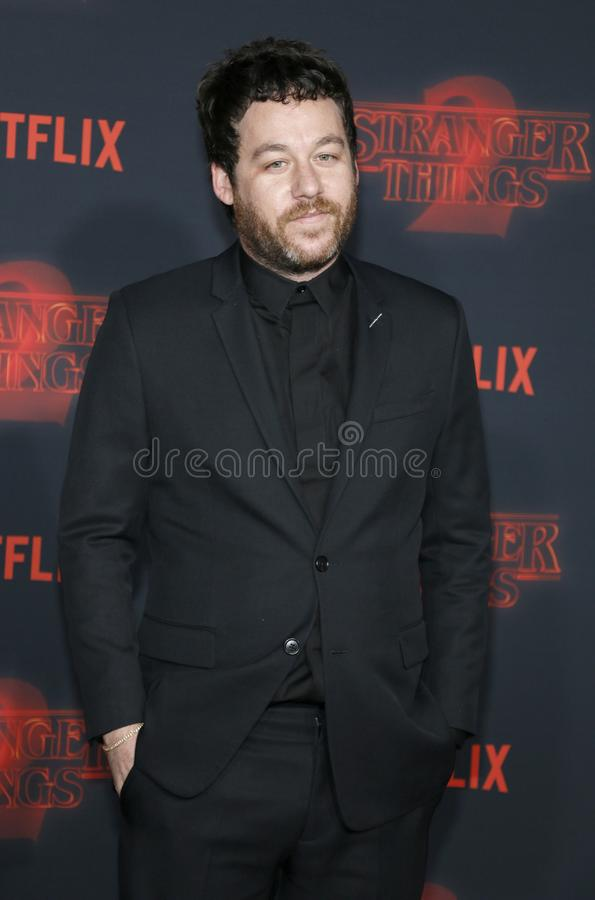 Kyle Dixon. At the Netflix`s season 2 premiere of `Stranger Things` held at the Regency Village Theatre in Westwood, USA on October 26, 2017 royalty free stock images