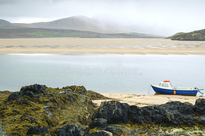 Kyle of Durness Balnakeil bay beach. Scotland stock photos