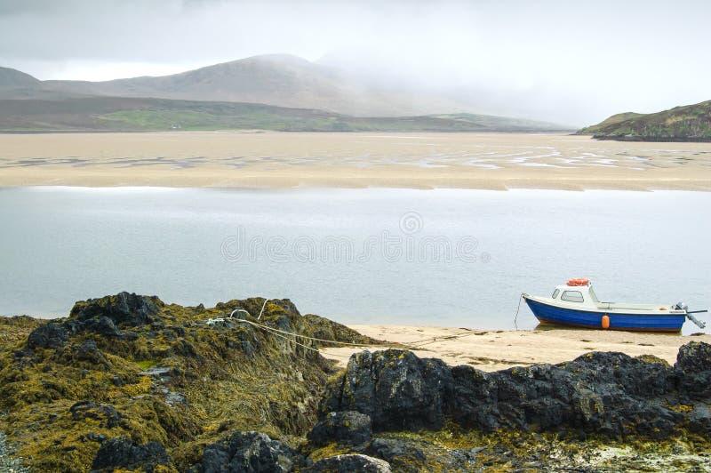Kyle Durness Balnakeil zatoki plaża. Szkocja zdjęcia stock
