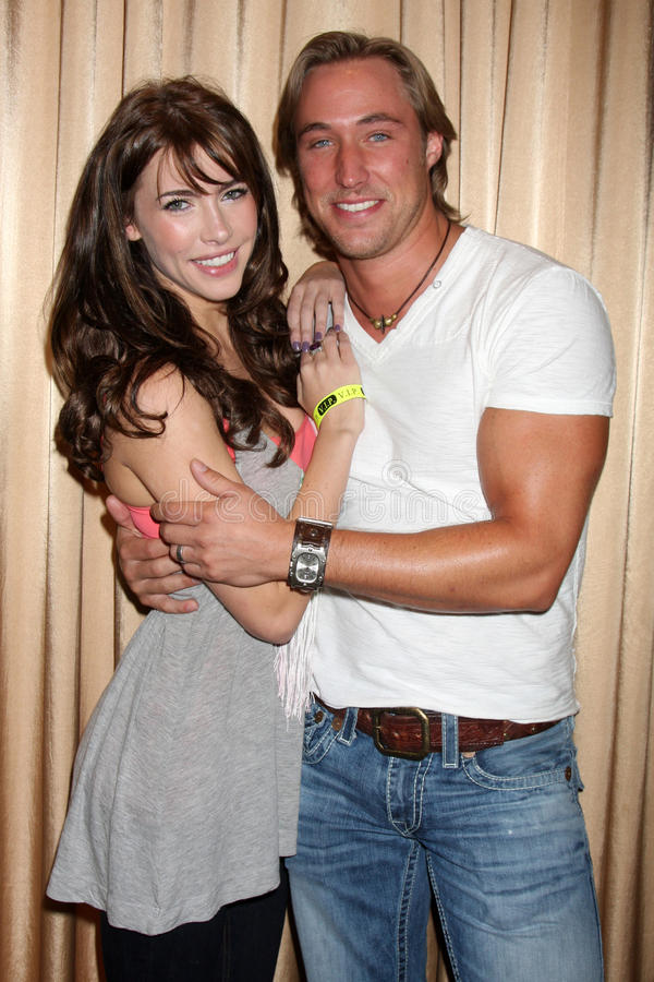 Kyle Lowder. Jacqueline MacInnes Wod & Kyle Lowder at the Bold & the Beautiful Fan Club Luncheon at the Sheraton Universal Hotel in Los Angeles, CA on August 29 royalty free stock images