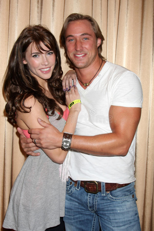 Kyle Lowder. Jacqueline MacInnes Wod & Kyle Lowder at the Bold & the Beautiful Fan Club Luncheon at the Sheraton Universal Hotel in Los Angeles, CA on August 29 stock photos