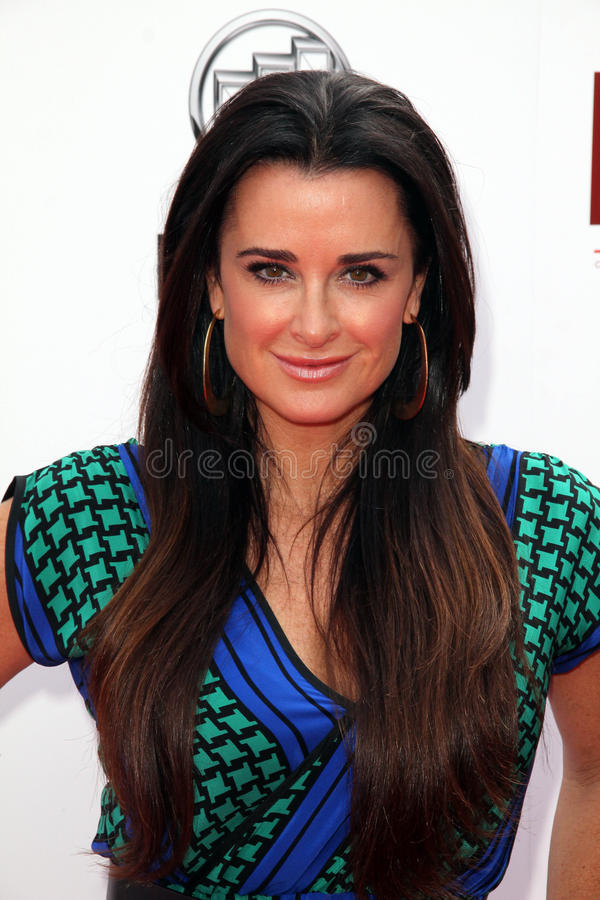 Download Kyle Richards editorial stock image. Image of first, richards - 31738034