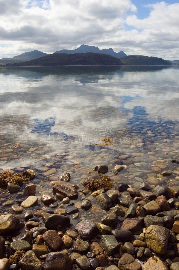 Kyle of Tongue, northern Scotland, reflexes royalty free stock image