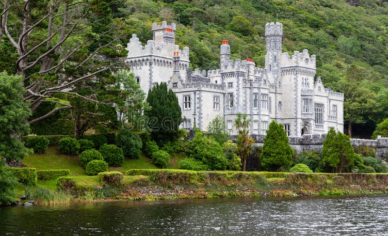 Kylemore Abbey. Connemara, County Galway / Ireland - August 12 2018: Kylemore Abbey is an Irish landmark having been founded by nuns fleeing Belgium during World stock image