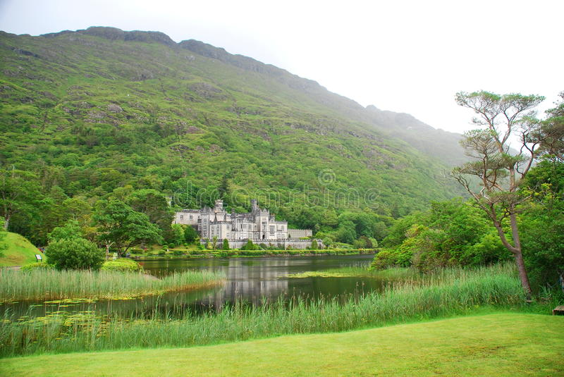 Kylemore Abbey. County Galway, Ireland stock image