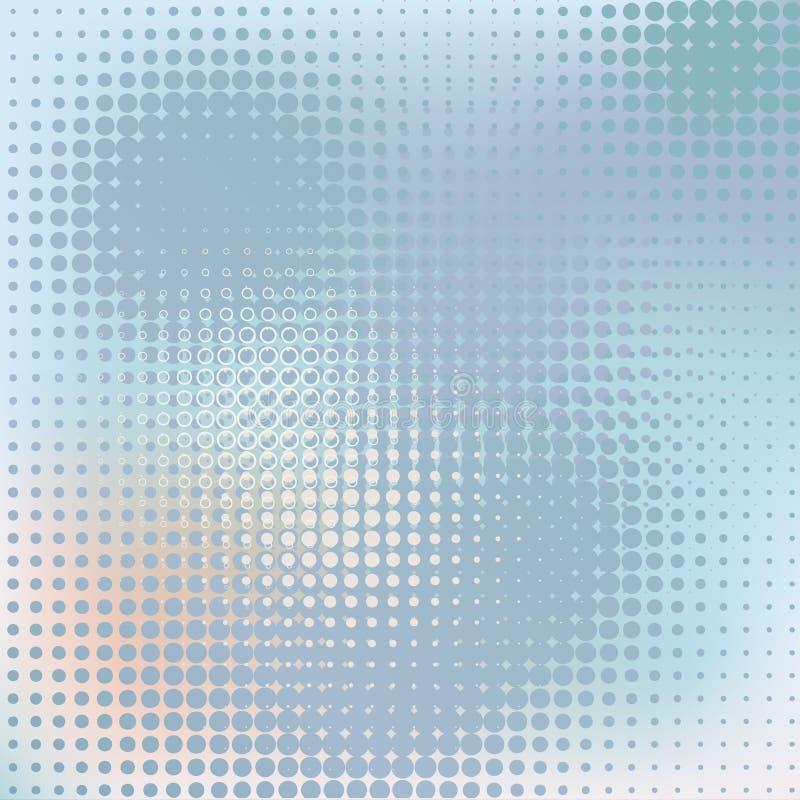 Kyler abstrakt bakgrund för vektorn, blått banret vektor illustrationer