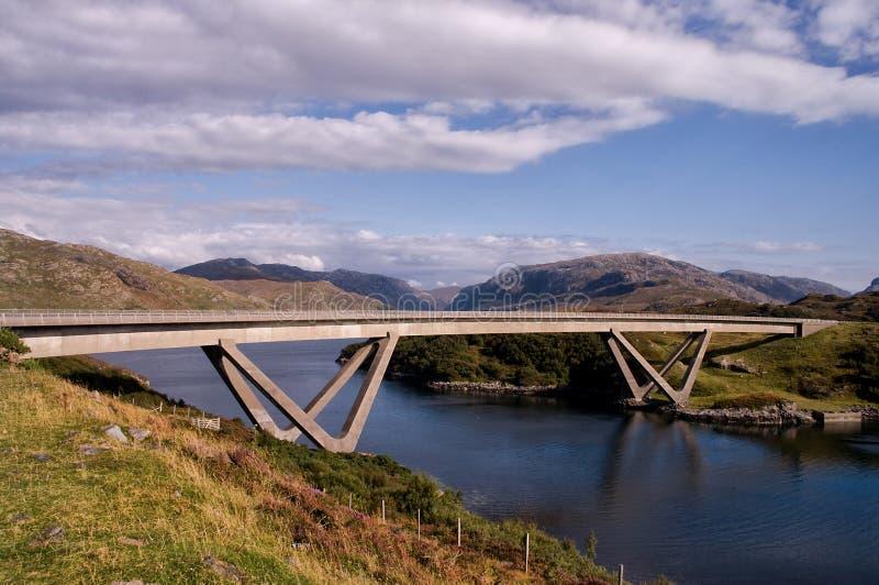 Kylesku most Sutherland Szkocja obraz stock
