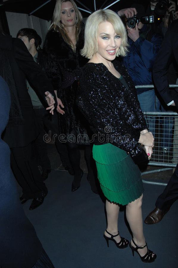 Kylie die minogue in Londen 2016 partying stock fotografie