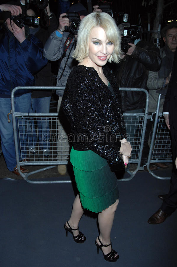 Kylie die minogue in Londen 2016 partying royalty-vrije stock afbeelding