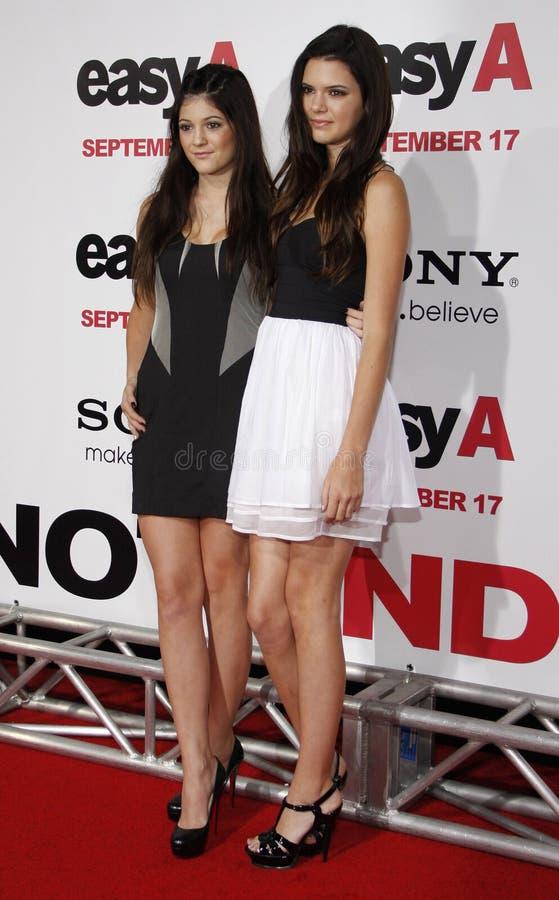 Kylie Jenner и Kendall Jenner стоковые фотографии rf