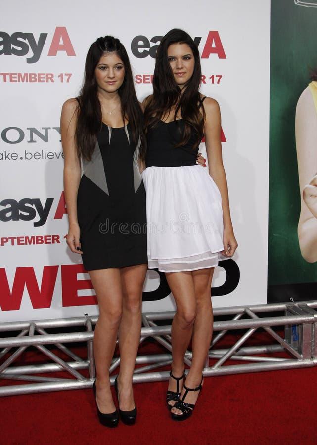 Kylie Jenner en Kendall Jenner royalty-vrije stock afbeeldingen