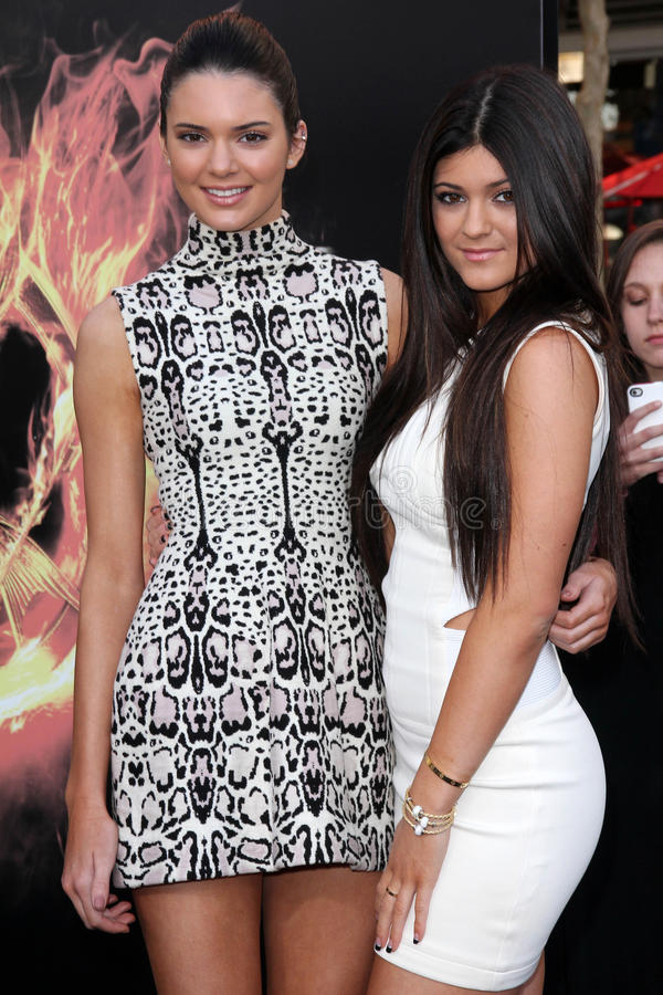 Kylie Jenner, Kendall Jenner photos stock