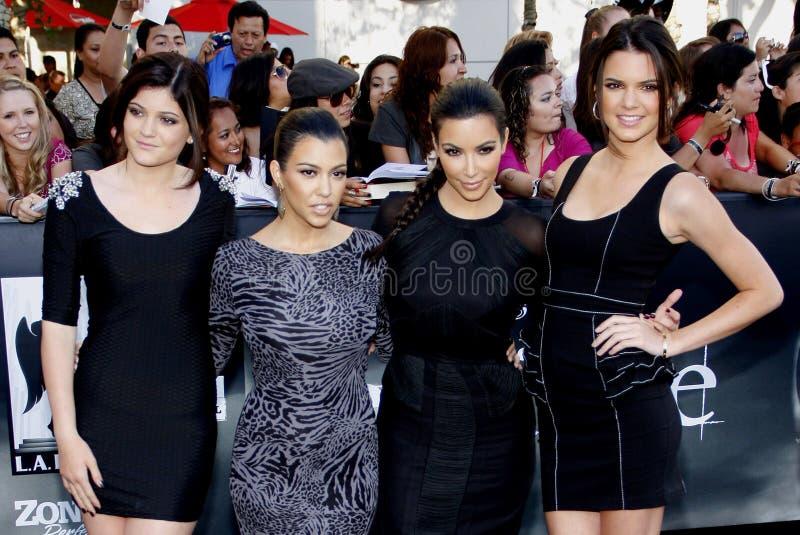 Kylie Jenner, Kourtney Kardashian, Kim Kardashian et Kendall Jenner photo stock