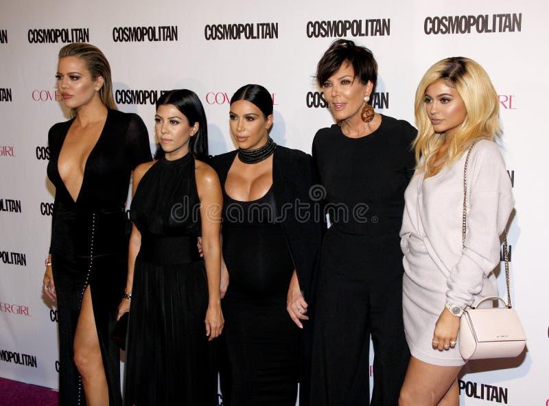 Kylie Jenner, Kris Jenner, Khloe Kardashian, Kourtney Kardashian et Kim Kardashian image libre de droits