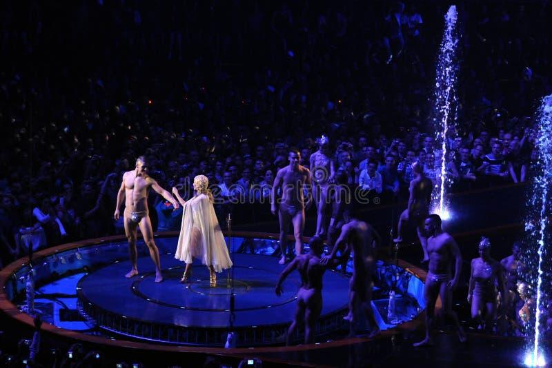 Kylie Minogue no concerto foto de stock royalty free