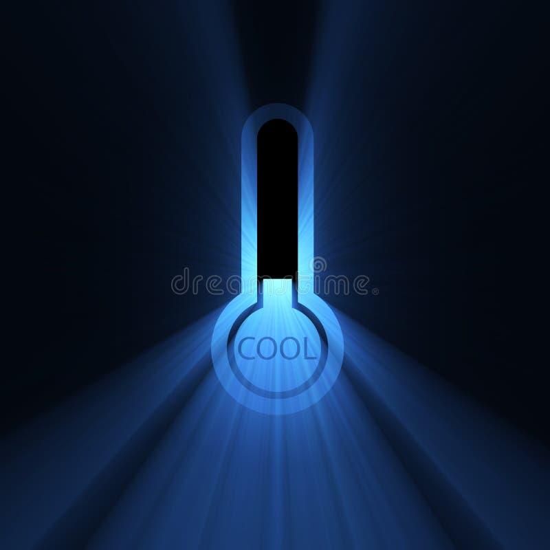 kyligt svalna signalljusteckentemperaturen royaltyfri illustrationer