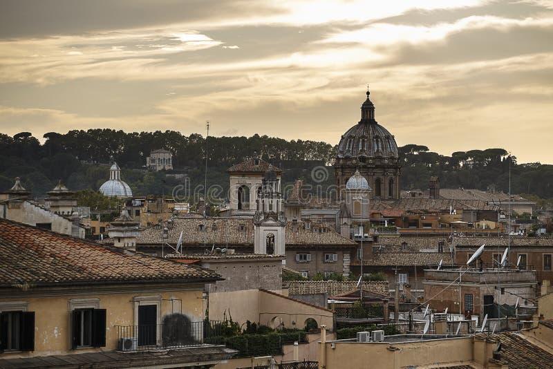Kyline van Rome royalty-vrije stock afbeeldingen