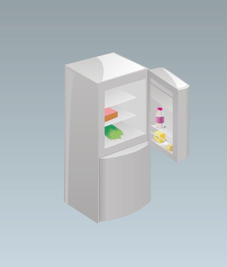 kylskåp vektor illustrationer