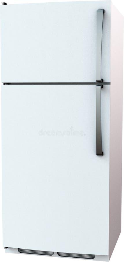 Kylskåp kyl, kökanordning, isolerat som är vit royaltyfria bilder