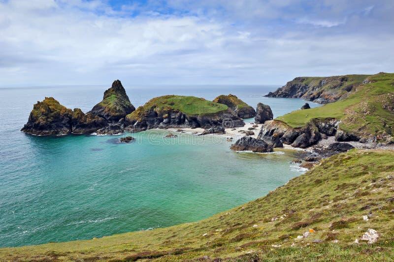 Kynance Bucht die Eidechse Cornwall stockfoto