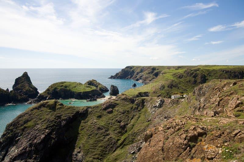 Kynance cove cliffs stock image