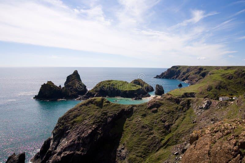 Kynance cove cliffs stock photography