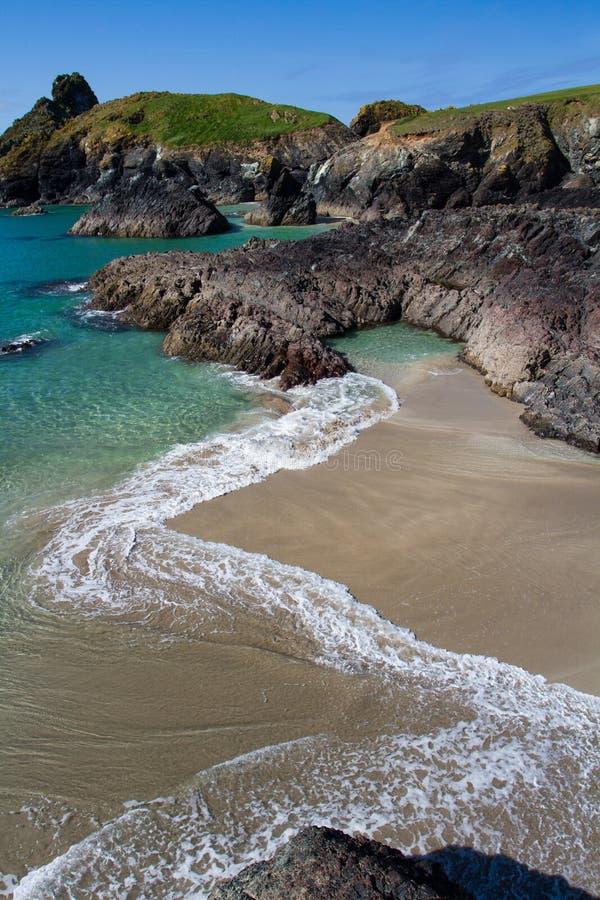 Kynance Zatoczka Cornwall zdjęcie stock