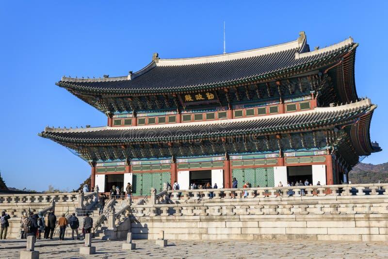 Kyongbok Thronraum Korea lizenzfreies stockbild