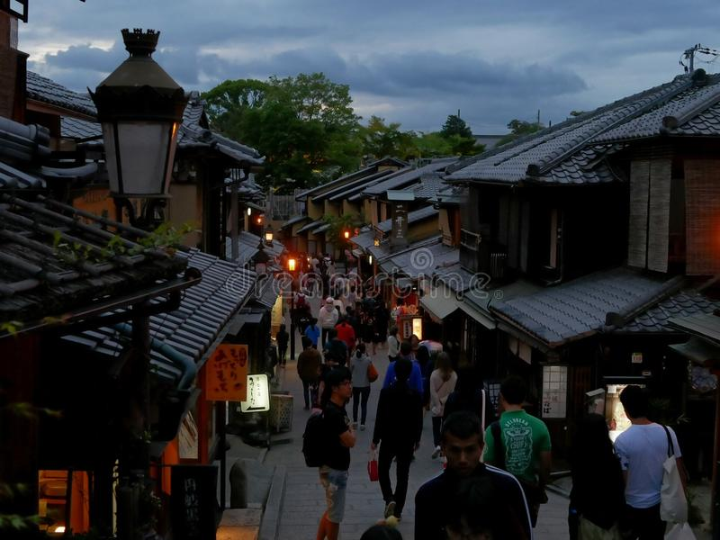 Kyoto al crepuscolo immagine stock