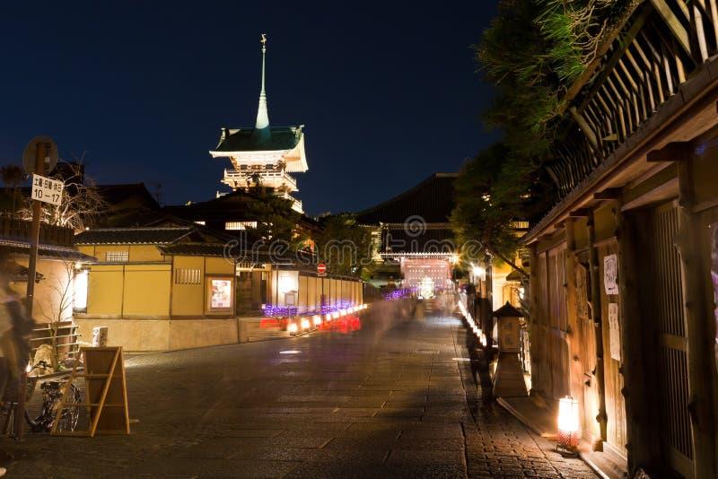 Download Kyoto alla notte, Giappone immagine stock. Immagine di scena - 30828897