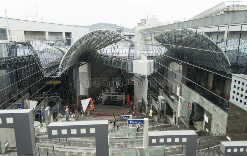 Kyoto-Bahnstation Japan stockfotografie