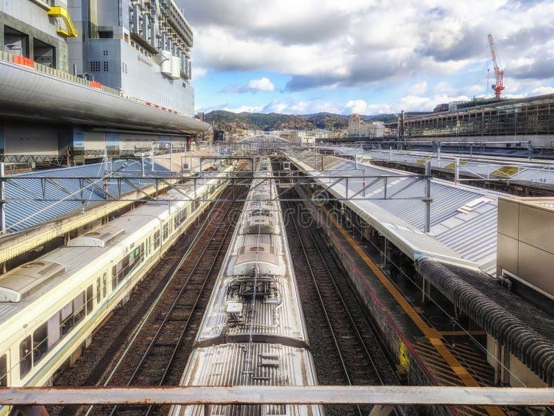 Kyoto-Bahnstation, Japan lizenzfreie stockfotos