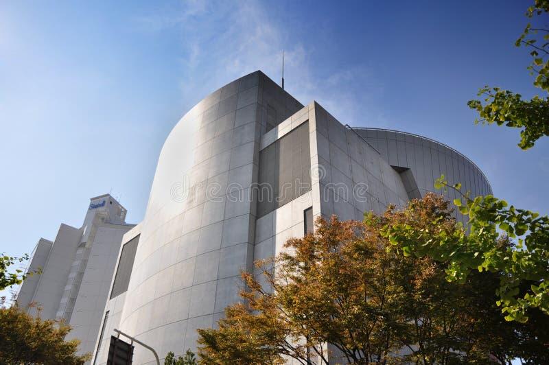 KYOTO 23 DE OUTUBRO: Museu de Suntory perto da vila do porto de Tempozan - Osa fotos de stock royalty free