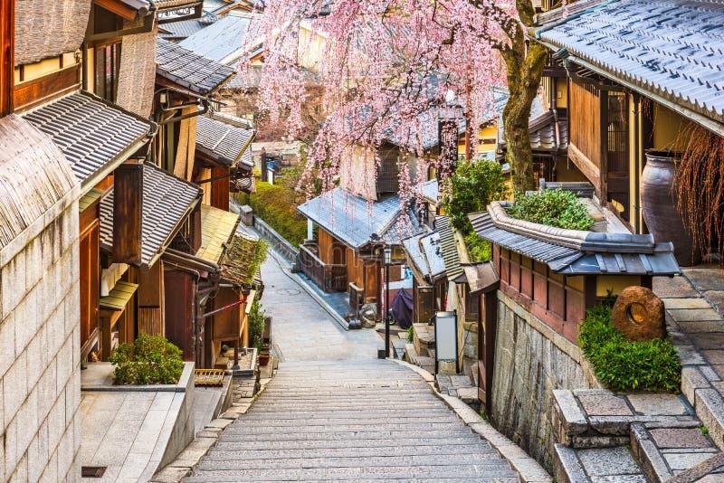 Kyoto, Giappone in primavera immagini stock libere da diritti