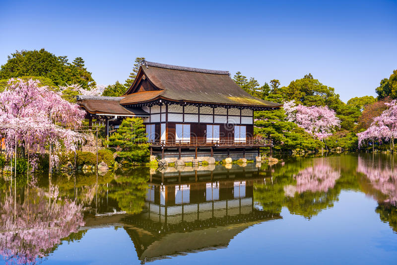Kyoto i vår royaltyfri bild
