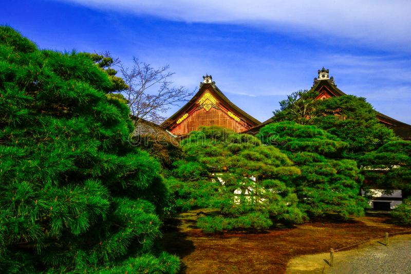 Kyoto imperial palace, Kyoto Japan. The Kyoto Imperial Palace is the former ruling palace of the Emperor of Japan. The Emperors have since resided at the Tokyo royalty free stock photography