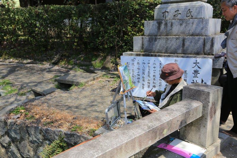 Kyoto, Japão na caminhada do filósofo na primavera fotografia de stock