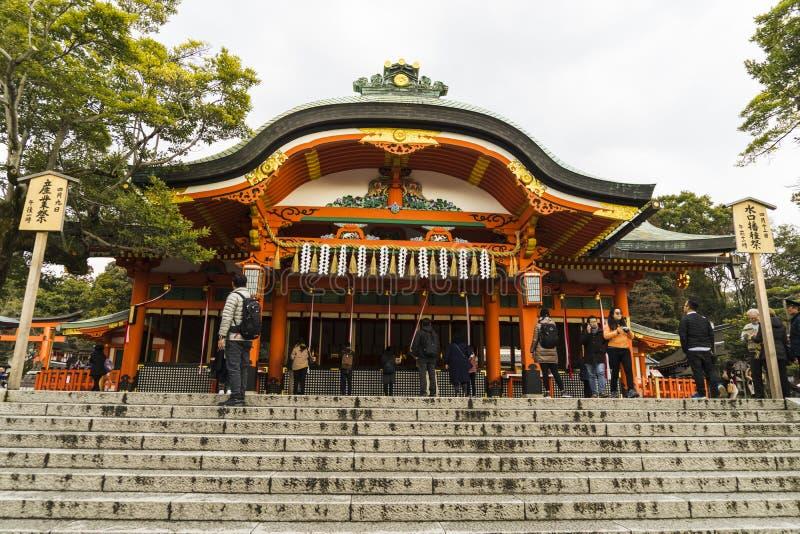 Kyoto, Japão no santuário de Fushimi Inari foto de stock