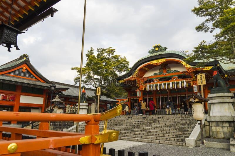 Kyoto, Japão no santuário de Fushimi Inari fotos de stock