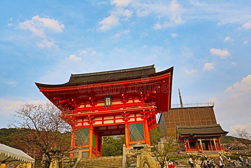 Kyoto, Japão no templo de Kiyomizu-dera na primavera fotos de stock