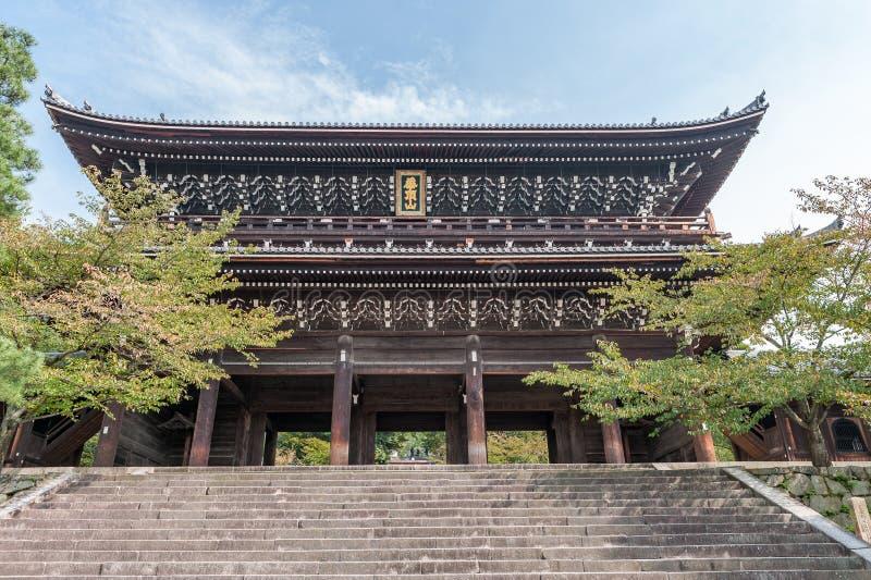 KYOTO, JAPÓN - 9 DE OCTUBRE DE 2015: Chion-en capilla, templo en Higashiyama-ku, Kyoto, Japón Jefaturas de la capilla de Jodo-shu imagen de archivo