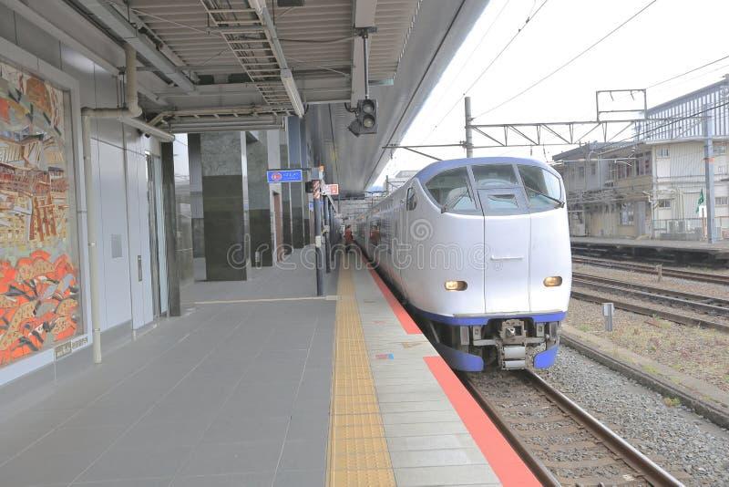 KYOTO JAPÓN mayo de 2014 Haruka Train en Kyoto fotografía de archivo