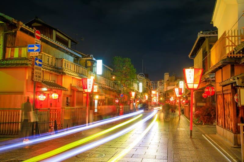 Geisha district night stock images